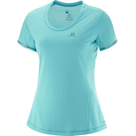 Salomon Agile SS Tee Women blue curacao